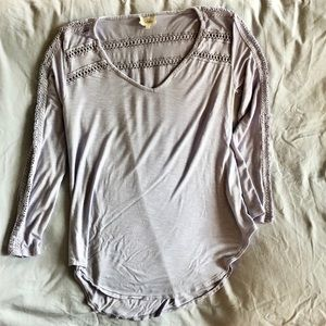 Anthropologie | Deletta Lavender Top with Detail